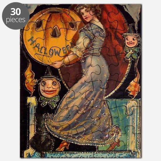 Vintage Halloween Card Puzzle