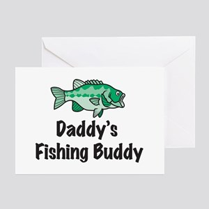 Daddy's Fishing Buddy Greeting Cards (Pk of 10