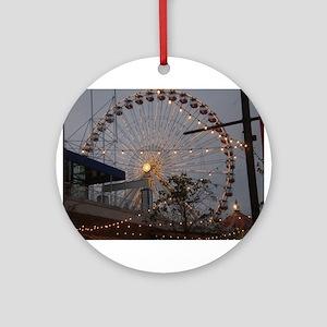 Chicago Ferris wheel Round Ornament