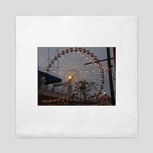 Chicago Ferris wheel Queen Duvet