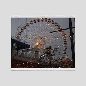 Chicago Ferris wheel Throw Blanket