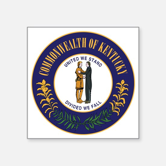 "Kentucky State Seal Square Sticker 3"" x 3"""