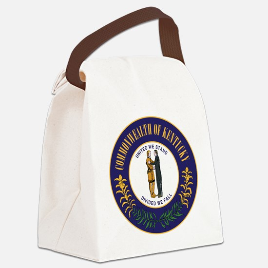 Kentucky State Seal Canvas Lunch Bag