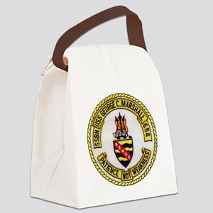uss george c. marshall patch tran Canvas Lunch Bag