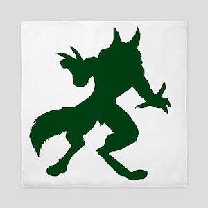 Dark Green Werewolf Queen Duvet