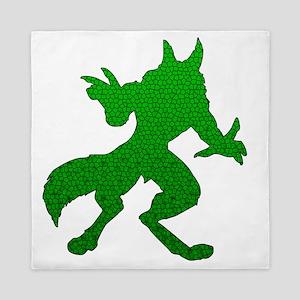 Green Werewolf Mosaic Queen Duvet