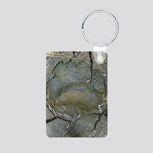 blackbeartrack23x35print Aluminum Photo Keychain