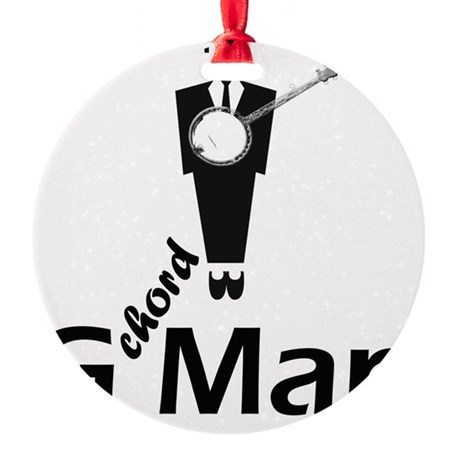 G Chord Man Round Ornament