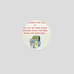 chauvinist joke Mini Button