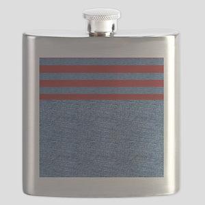 Blue Denim Flask