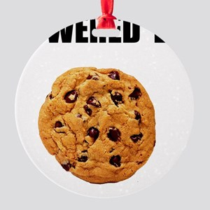 Powered By Cookie Round Ornament