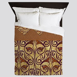 Pretty Egyptian Pattern Queen Duvet