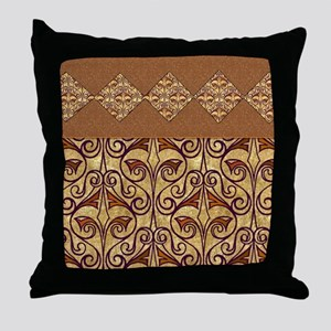 Pretty Egyptian Pattern Throw Pillow