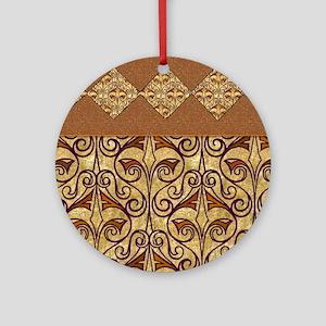 Pretty Egyptian Pattern Round Ornament