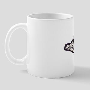 uss gudgeon white letters Mug