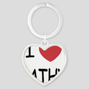 I heart KATHY Heart Keychain