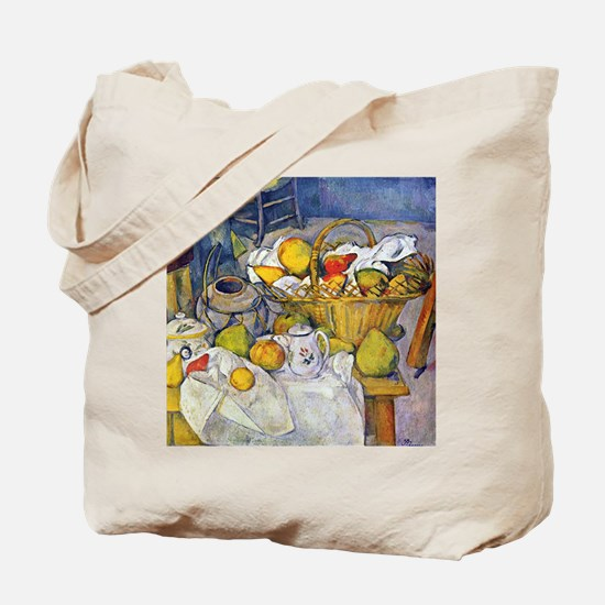 Paul Cezanne Still Life with Fruit Basket Tote Bag