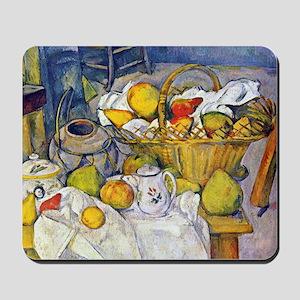 Paul Cezanne Still Life with Fruit Baske Mousepad