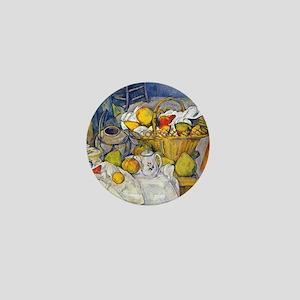 Paul Cezanne Still Life with Fruit Bas Mini Button