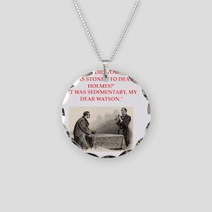 holmes joke Necklace Circle Charm