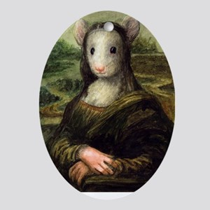 Mousie Lisa Oval Ornament