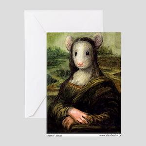 Mousie Lisa Greeting Card