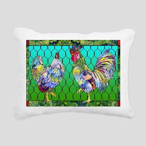 rooster  hen Rectangular Canvas Pillow