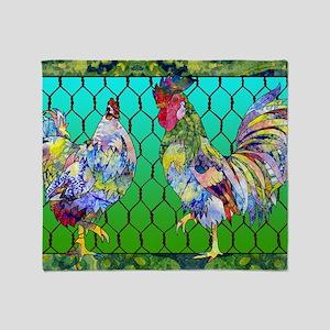 rooster  hen Throw Blanket