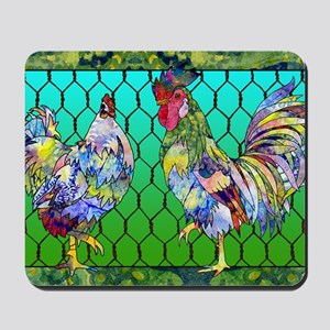 rooster  hen Mousepad