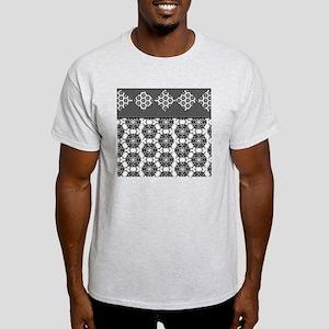 Black and White Flowers Light T-Shirt