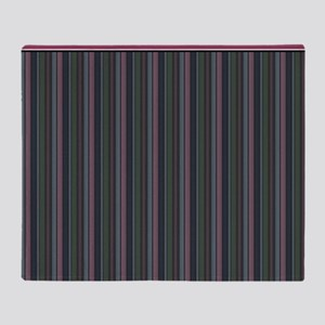 Pink and Gray Stripes Throw Blanket
