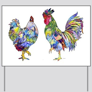 roostersquare Yard Sign