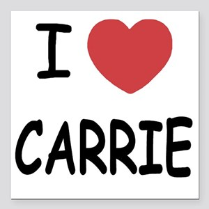 """I heart CARRIE Square Car Magnet 3"""" x 3"""""""