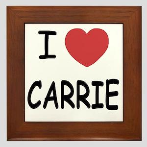 I heart CARRIE Framed Tile