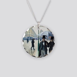 Gustave Caillebotte Necklace Circle Charm
