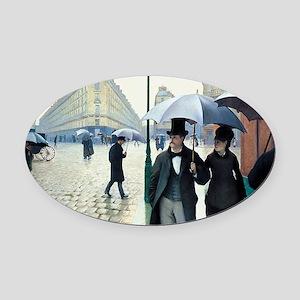 Gustave Caillebotte Oval Car Magnet