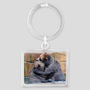 Bear Hug Landscape Keychain