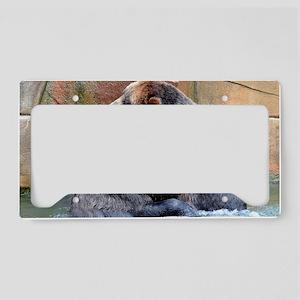 Bear Hug License Plate Holder