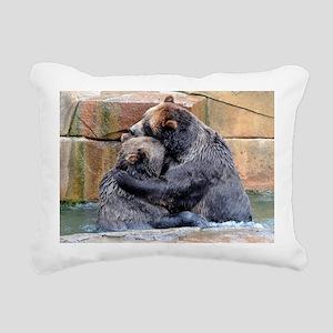 Bear Hug Rectangular Canvas Pillow