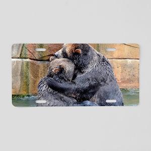Bear Hug Aluminum License Plate