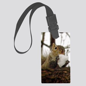 Squirrel Snowcone Large Luggage Tag
