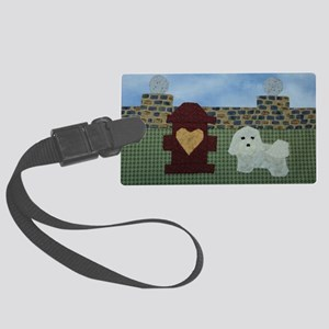 A Heart Marks the Spot by Joni B Large Luggage Tag