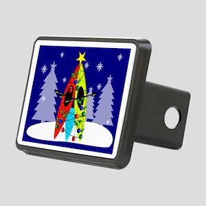 Kayaking Christmas Card Ga Rectangular Hitch Cover