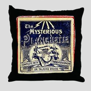 Vintage Ouija Mystery planchette Ad Throw Pillow