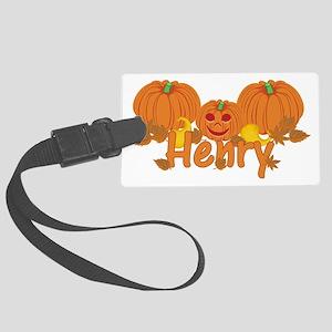 Halloween Pumpkin Henry Large Luggage Tag