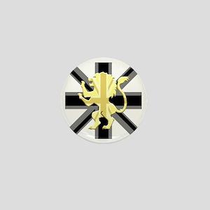 Black Union Jack Lion Rampant Mini Button