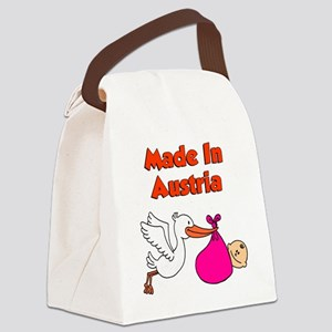 Made In Austria Girl Canvas Lunch Bag