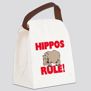 Hippos Rule! Canvas Lunch Bag