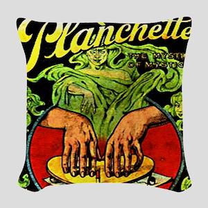 Vintage Ouija planchette Woven Throw Pillow