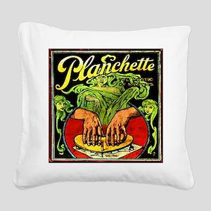 Vintage Ouija planchette Square Canvas Pillow